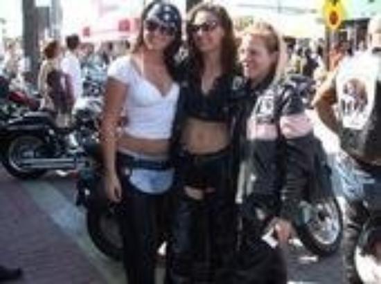 Daytona Beach, FL: Sara, Heather & me...bike week 2008