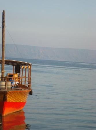 On the Sea of Galilee.