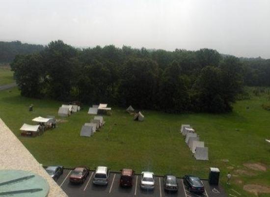 Gettysburg militære nasjonalpark: View of the Re-enactment Camp on the Battlefield