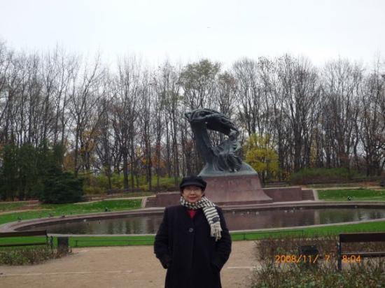 Chopin Monument: Chopin's Monument in Lazienki Park , Warsaw, Poland, Nov'08