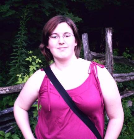 Palmyra, NY: Me by the fence at the entrance of the Sacred Grove.
