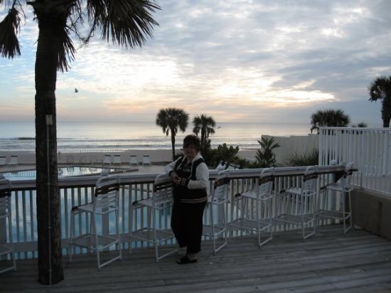 this is the hotel swimming pool overlooking Daytona Beach