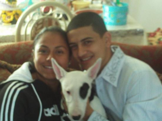 El Paso, TX: My Nephew and His wife Alba and there dog Diva !