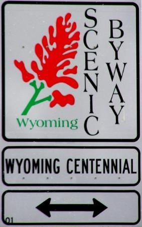 Big Piney, WY: Wyoming Scenic Byway Signage