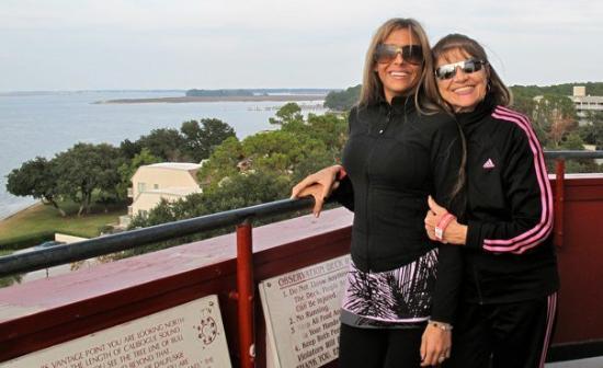 Hilton Head, SC: Grandma and I on top of HaborTown's Light House