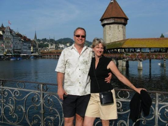 Kapellbrucke: Pete and I in Lucern, Switzerland in September 2008.