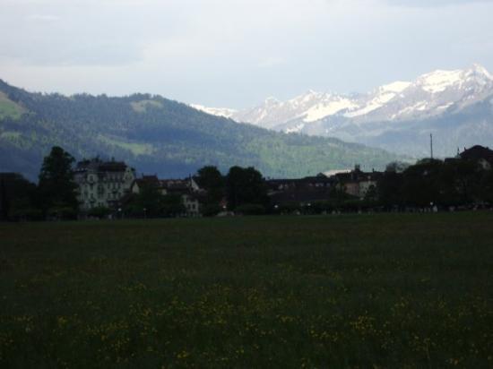 Interlaken, Sveits: The beautiful country side of Interlocken Switzerland