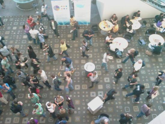 Austin Convention Center: I did successfully resist the urge to drop things on the people below...