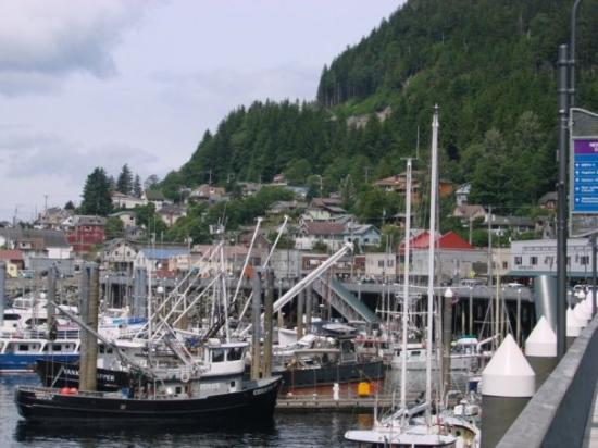 Ketchikan, AK: Ketchican, AK. Half the town is built on the dock, the rest into a mountian. They have streets t