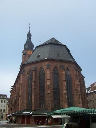Heidelberg, Tyskland: One of the oldest churches in the city.