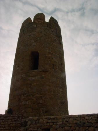 Ulldecona, Spania: A tower (restored with funds from the EU)