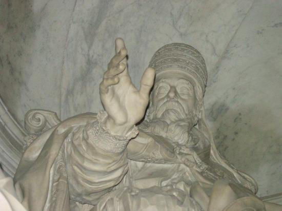 Roman Curia: A detail of the statue, certainly masterpiece of art (completed in 1723)