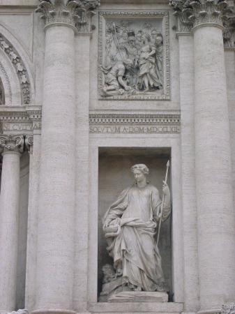 Fontana di Trevi: Representation of Agrippa