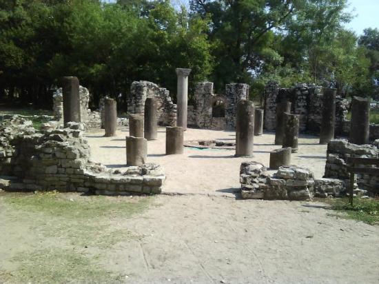 Butrint Albanien 29 Augusti 2009. Arkeologiskt världsarv.