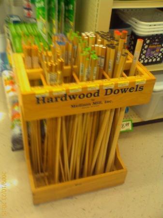 Columbus, OH: Wooden dowels????