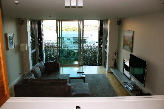 Swiss-Belsuites Pounamu Queenstown: Lounge & Kitchen area