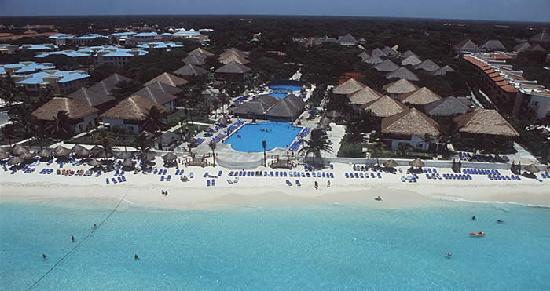 Allegro Playacar: view of the resort from the air