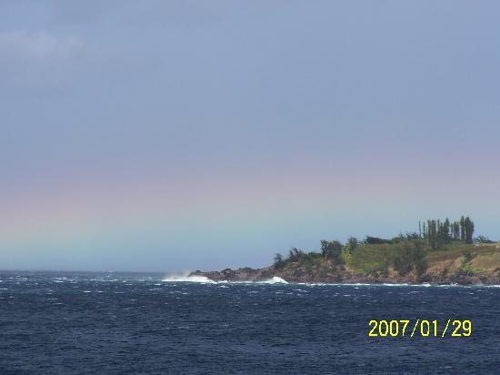 Lahaina, HI: Rainbow by Fleming Beach
