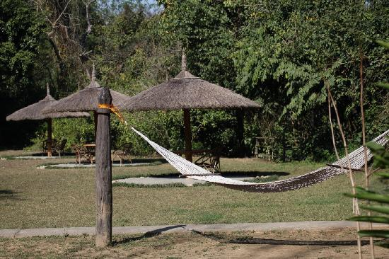 A hammock to take it easy at the Tiger Tops Tharu Lodge in Chitwan National Park in Nepal