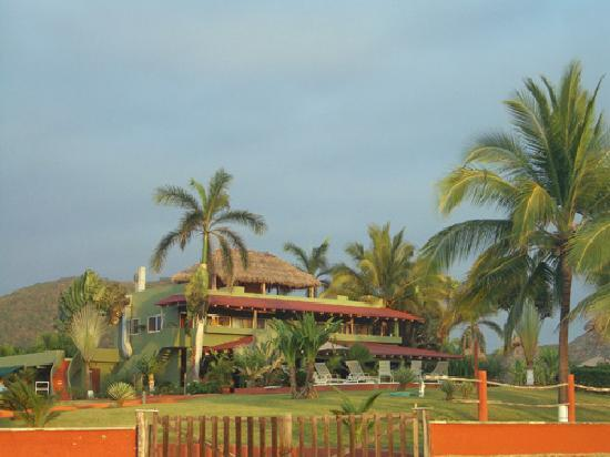 Majahua Palms: Dining and pool area.