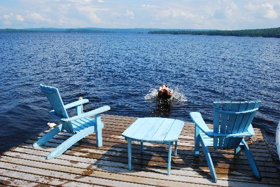 Algonquin Provincial Park, Canada: The dock at Brent on Cedar Lake, on Algonquin Park's north side