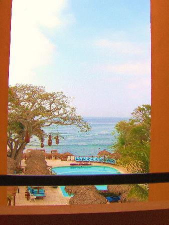 The Royal Suites Punta de Mita: view from balcony down to pool
