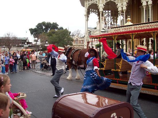 Magic Kingdom: Pequeño show del tranvía