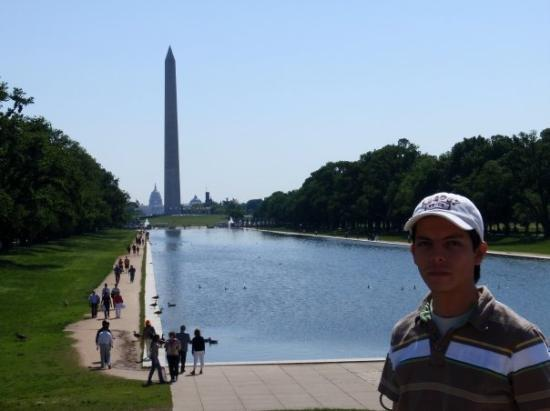 Washington Monument: Monumento a Washington. Construido para conmemorar al primer presidente de los US, George Washin