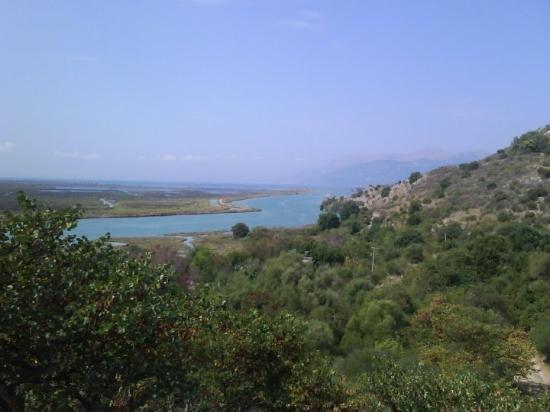 Vy från Butrint Albanien 29 Augusti 2009.