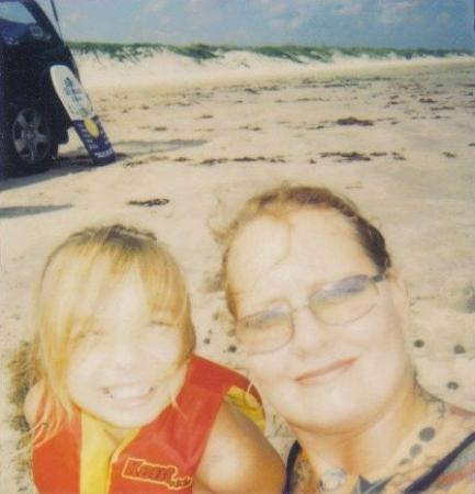 Port Aransas, TX: Artazia and I at one of our many trips to the beach..