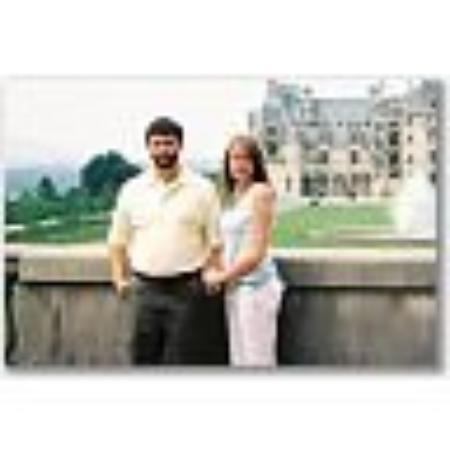 The day before our wedding.  This is at the Biltmore Estate.