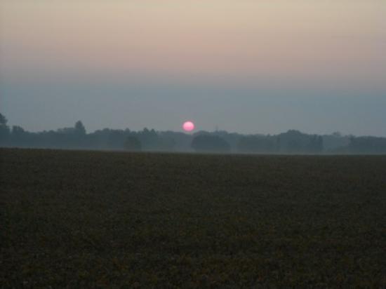 Cambridge, IA: sunrise in Ia.