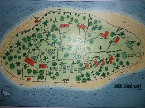 Navini Island Resort: Map of Navini