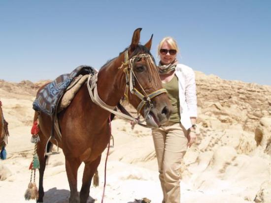Petra / Wadi Musa, Jordan: My horse, Summer and me.