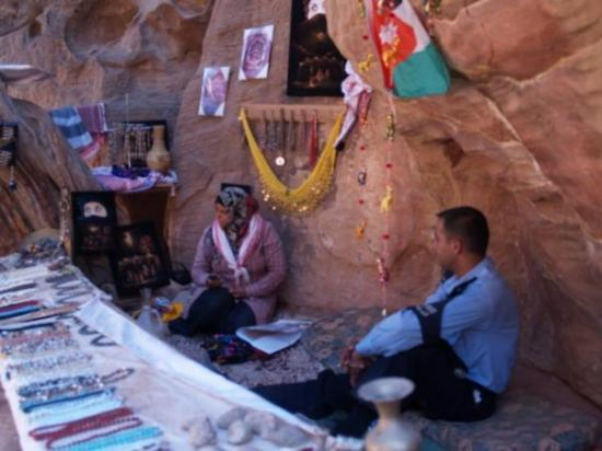 Petra / Wadi Musa, Jordan: Hanhan and her souvenir shop in Petra.