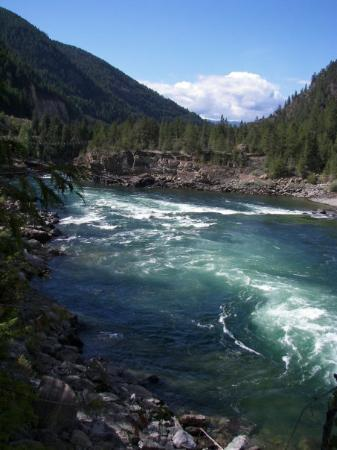 Kalispell, MT: Raging waters from the river.