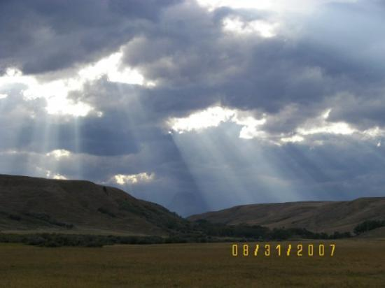 Kalispell, MT: Rays peeking through the clouds.
