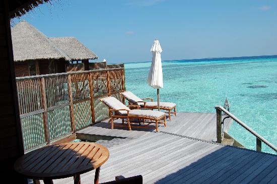 Conrad Maldives Rangali Island: the deck