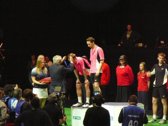 "Birmingham, UK: ""mladým"" to letos ve finále nevyšlo Mathias Boe/Carsten Mogensen (DEN)"