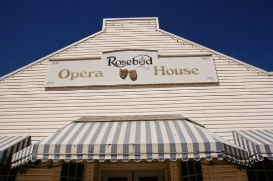 """Drumheller, Canada: The """"grand ole""""  Opera House.  Seats over 200 patrons and is Rosebud's main stage.  Now playing"""