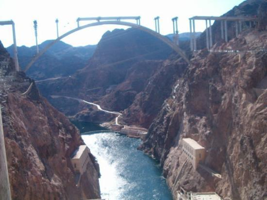 New unfinished Bypass Bridge at Hoover Dam