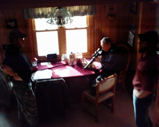Sevilla, OH: Deer Camp, 2006. Good times.  Chris (left) killed his first deer in eleven years that year. Me a