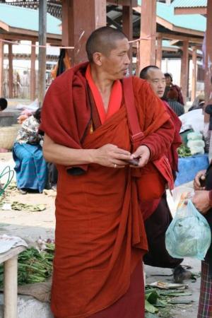 Paro, Bhutan: A monk with a cell?