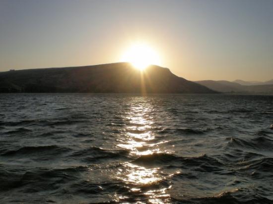 Tiberias, Israel: Galilee at sunset.