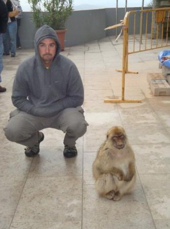 Gibraltar: Trent chilling with a Monkey