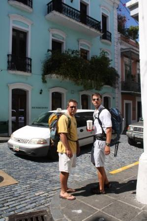 Old San Juan: Clark and Brandon on the streets of Puerto Rico.
