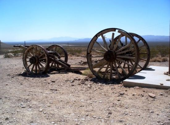 Pahrump, NV: somewhere in the NV deseret 10/2009 (Rhyolite Ghost town) old wagon parts