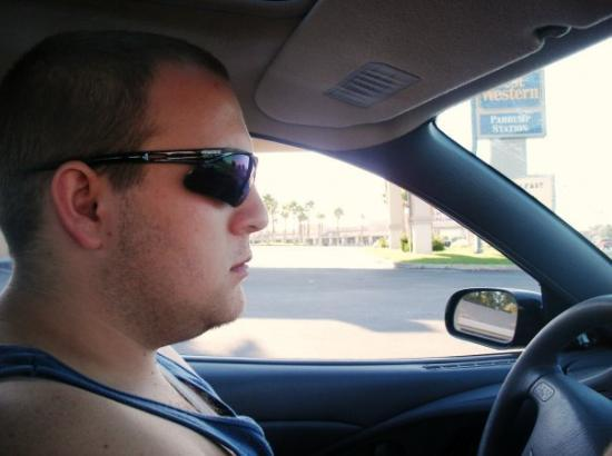 Pahrump, NV: me driving 10/2009