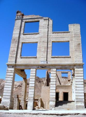 Pahrump, NV: somewhere in the NV deseret 10/2009 (Rhyolite Ghost town) the bank