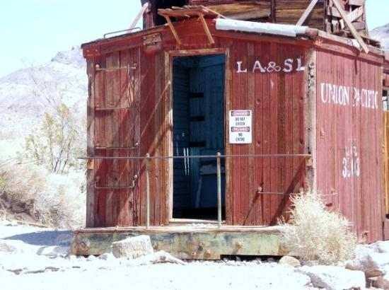 Pahrump, NV: somewhere in the NV deseret 10/2009 (Rhyolite Ghost town) part of an old train